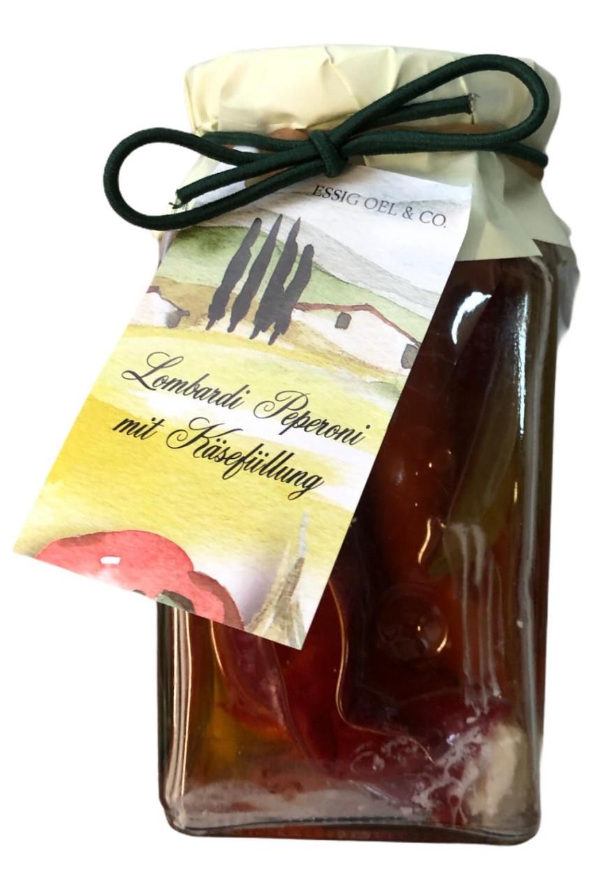 Essig Oel & Co. Lombardi Peperoni mit Käsefüllung 250g