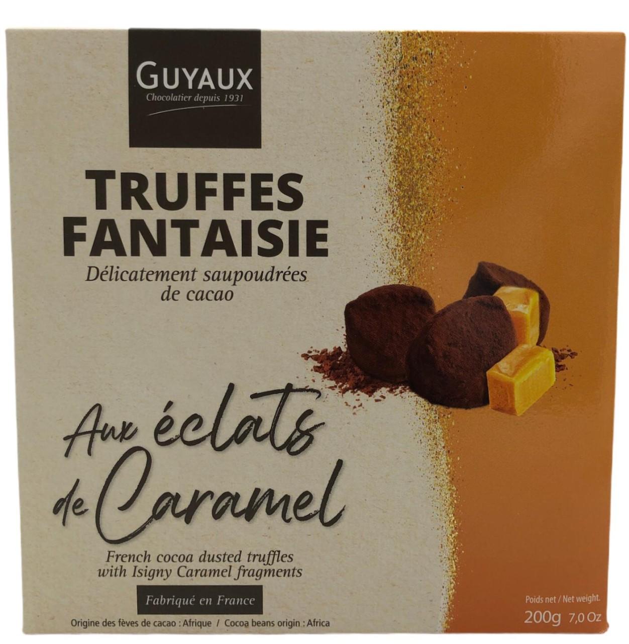 Guyaux Truffes Fantaisie aux eclats de Caramel 200g