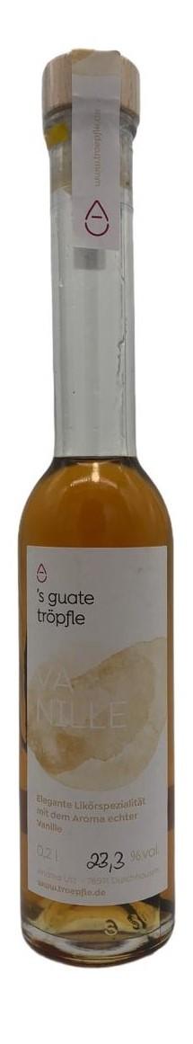 ´s guate tröpfle Vanille - mit echter Vanille Stange - 23,3 % vol. 0,2 l