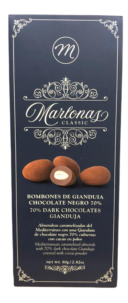 Marlonas Bombones de Gianduia Chocolate Negro 70% 80g