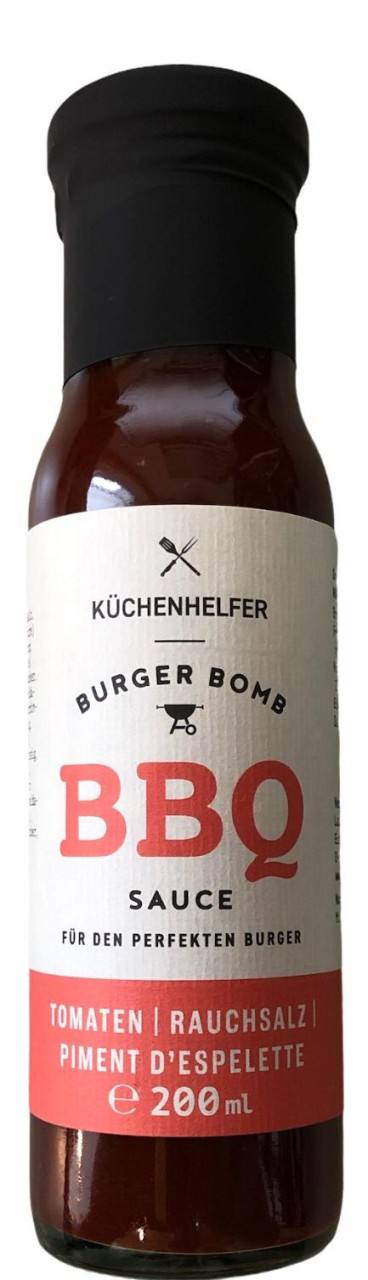 Küchenhelfer BBQ Sauce - Tomaten, Rauchsalz, Piment d´Espelette 200ml