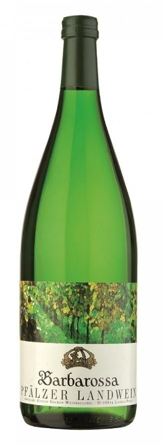 Barbarossa Pfälzer Landwein Weißwein halbtrocken 1 Liter