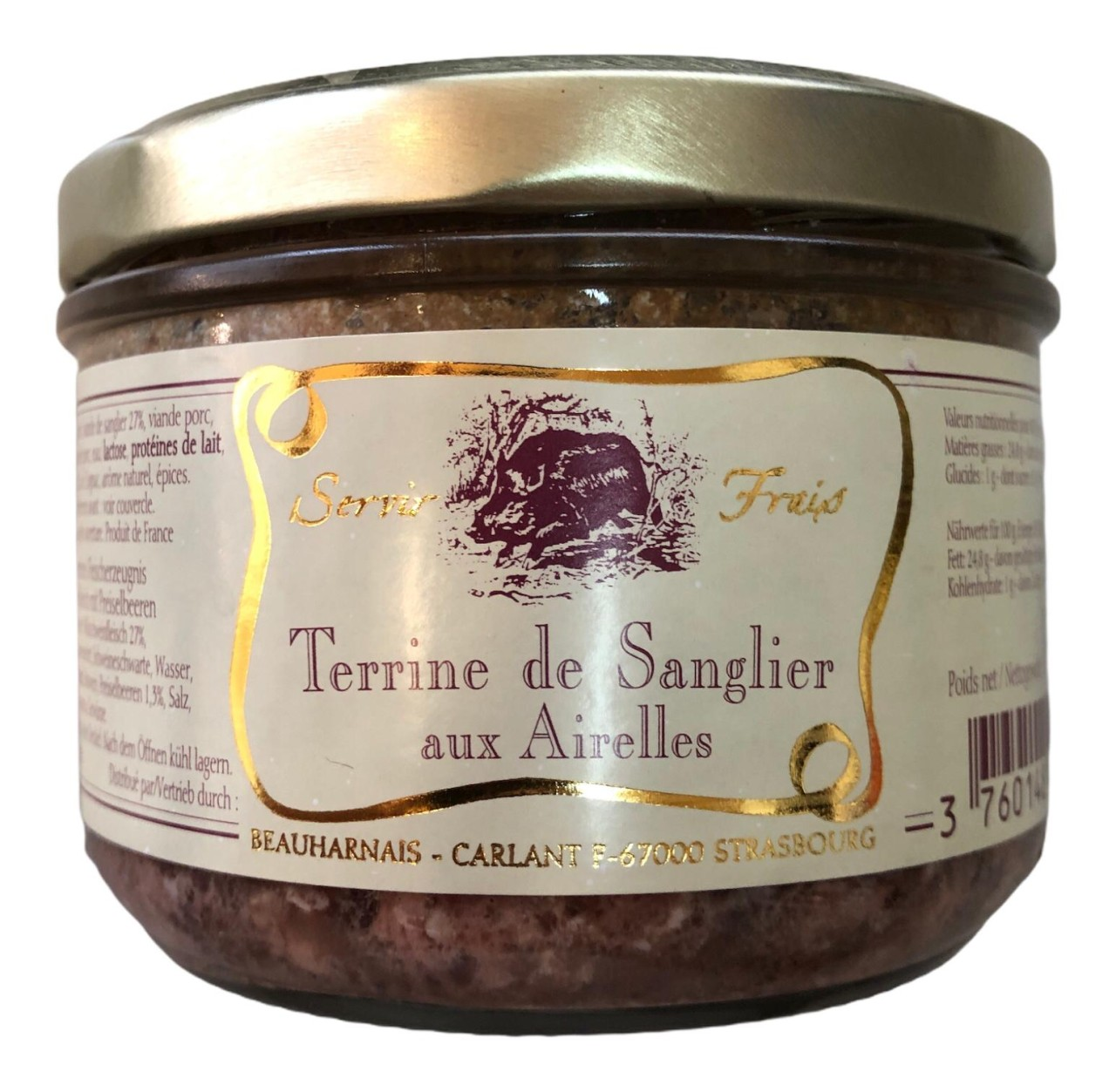 Servir Frais Terrine de Sanglier aux Airelles (Wildschweinfleisch mit Preiselbeeren) 180g