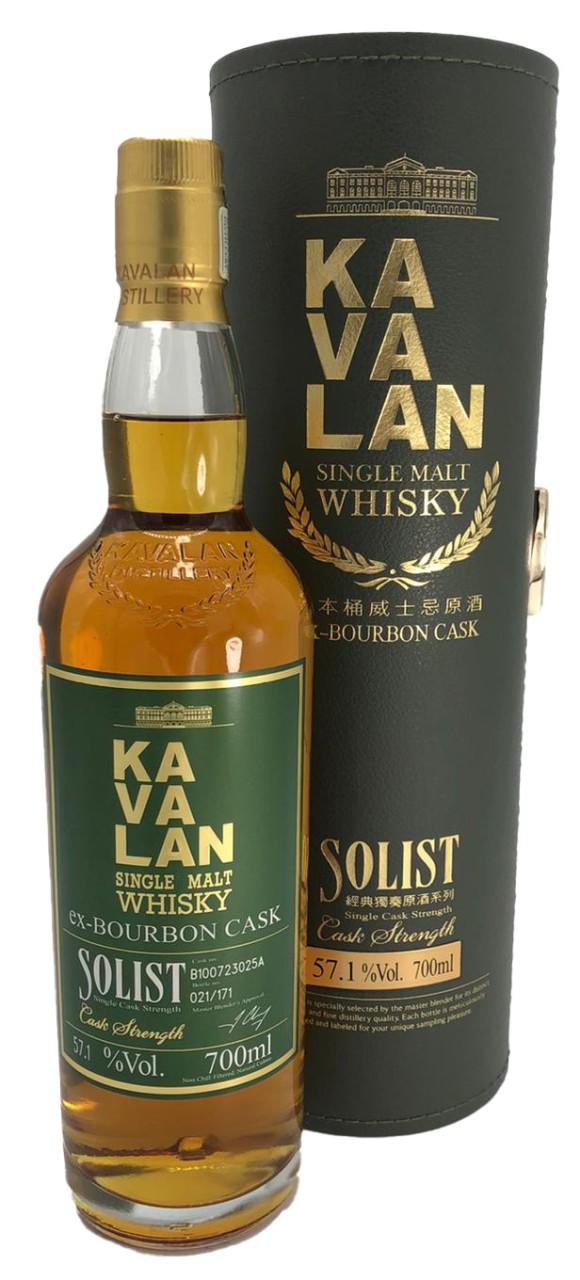 Kavalan ex-Bourbon Cask Solist Single Malt (0,7 L in grüner GK)