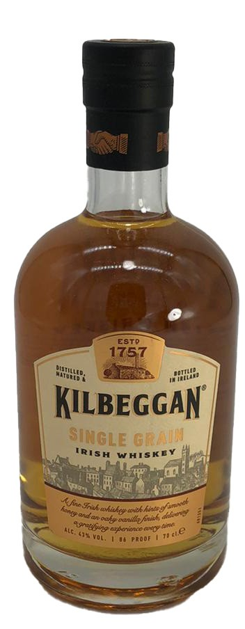 Kilbeggan Single Grain Irish Whisky