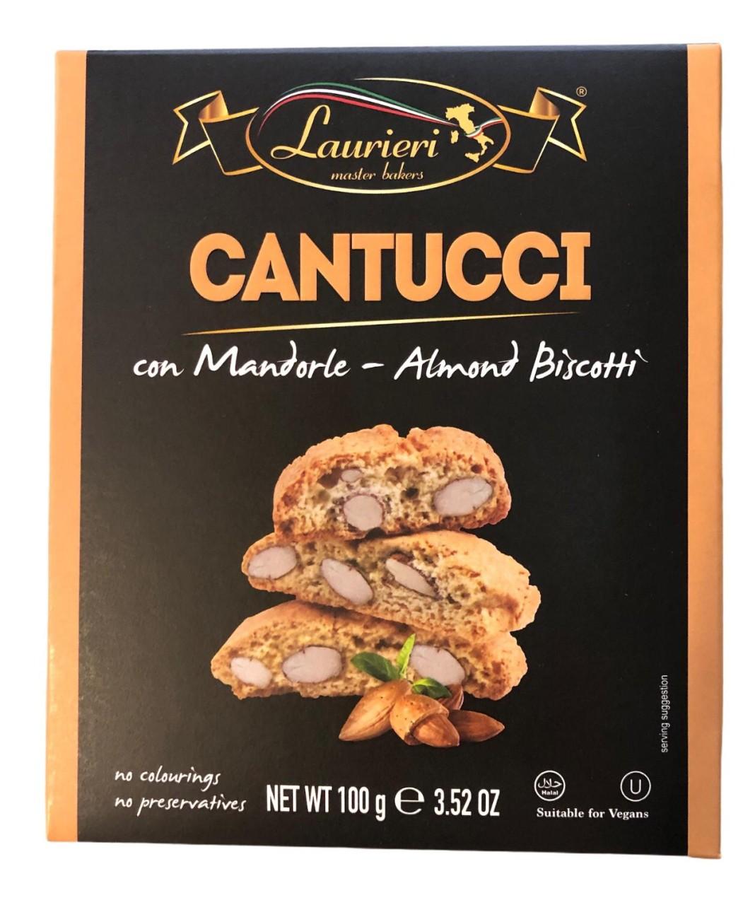 Laurieri Cantucci con Mandorle - Almond Biscotti 100g