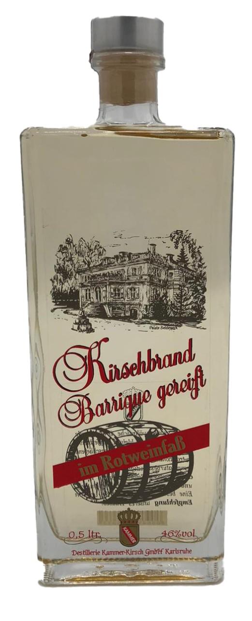 Kirschbrand Barrique gereift (im Rotweinfaß)- Kammer- 0,5l