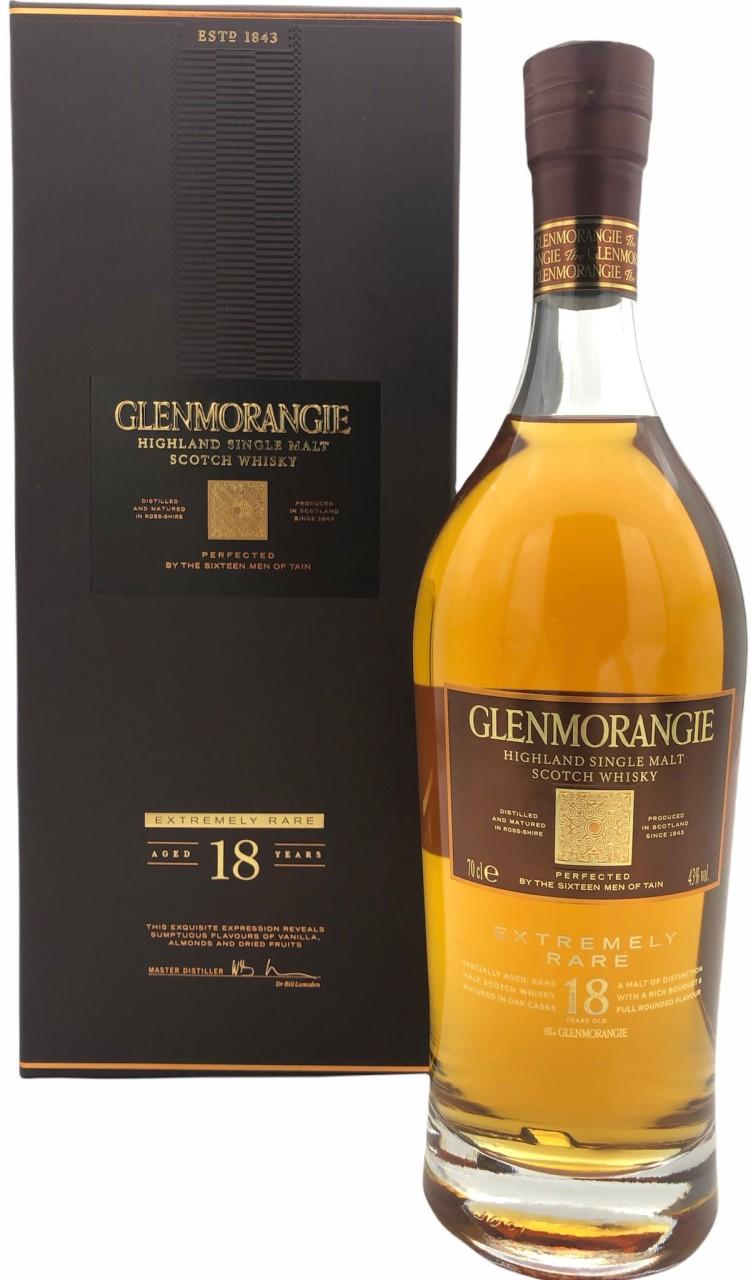 Glenmorangie 18 Years, Extremely Rare Single Malt Whisky 0,7l