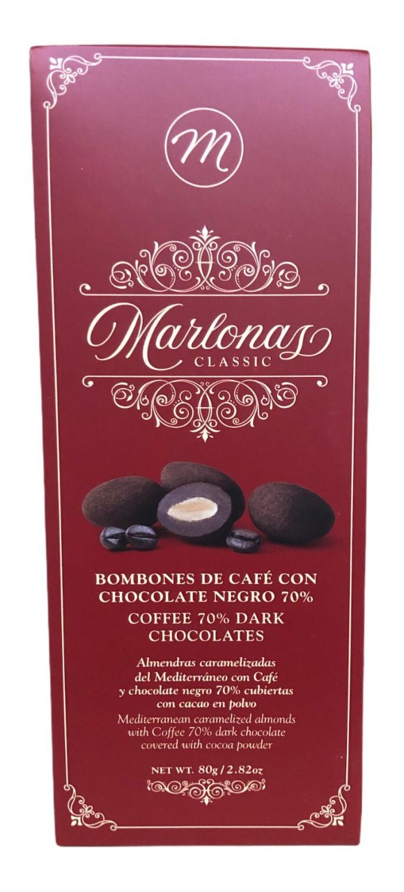 Marlonas Bombones de Café con Chocolate Negro 70% 80g
