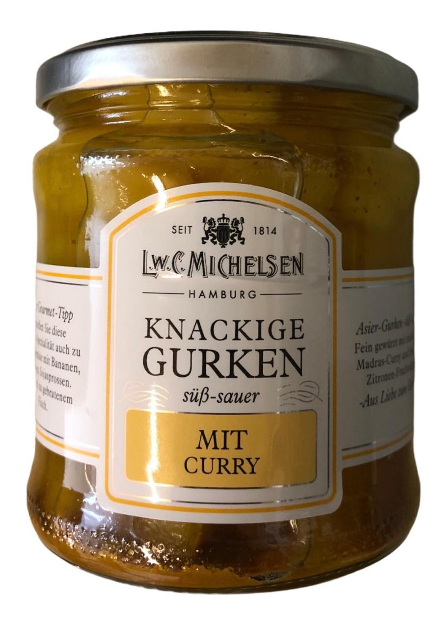 L.W.C. Michelsen Knackige Gurken mit Curry -süß sauer- 330g