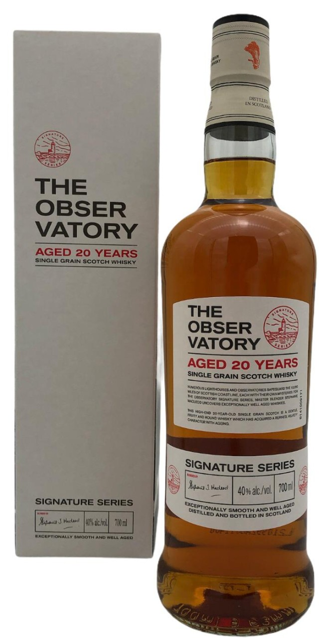 The Obser Vatory Aged 20 Years Single Grain Whisky 40% vol.