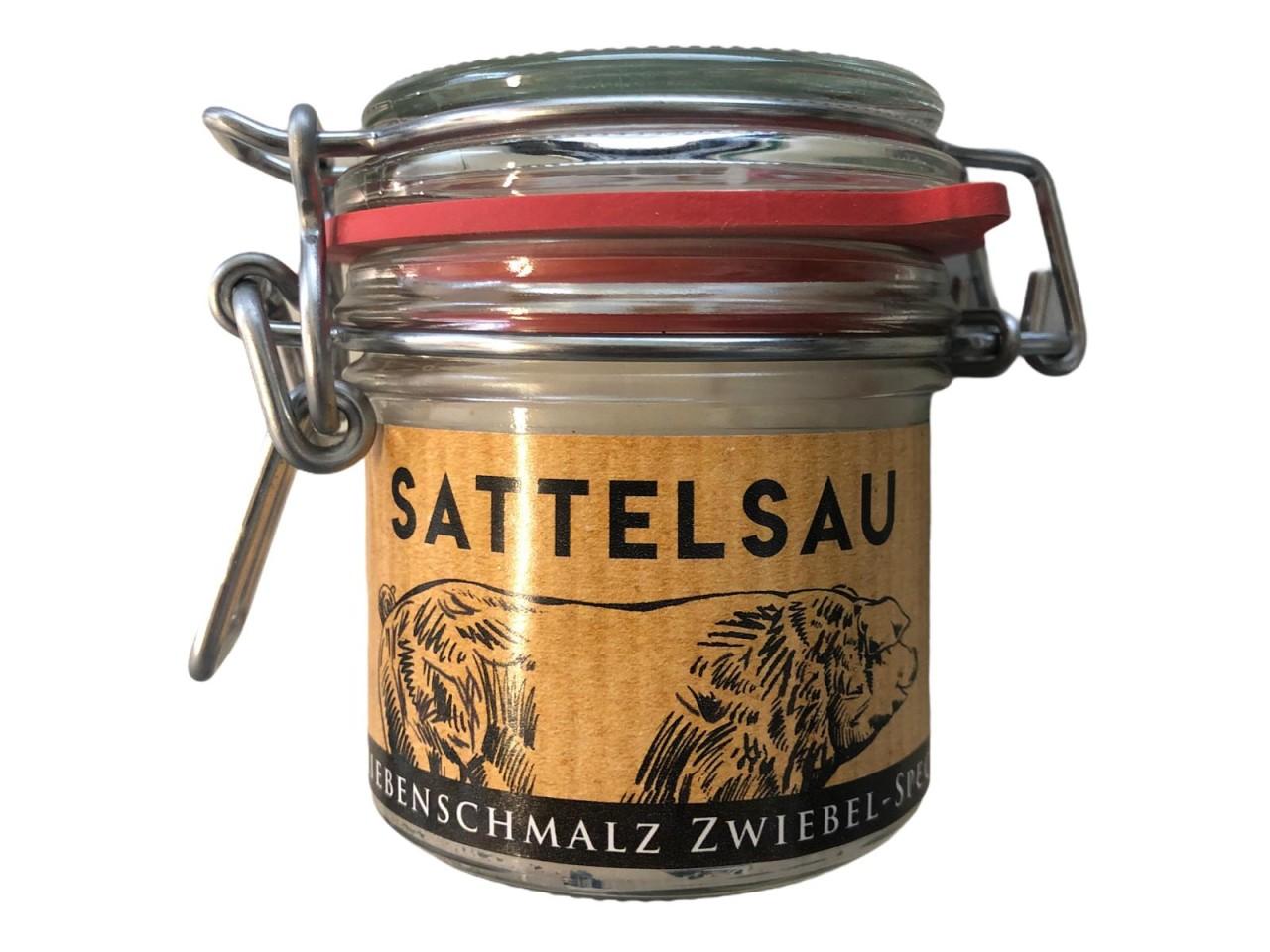 Schirmerhof Sattelsau Griebenschmalz Zwiebel-Speck 100 g