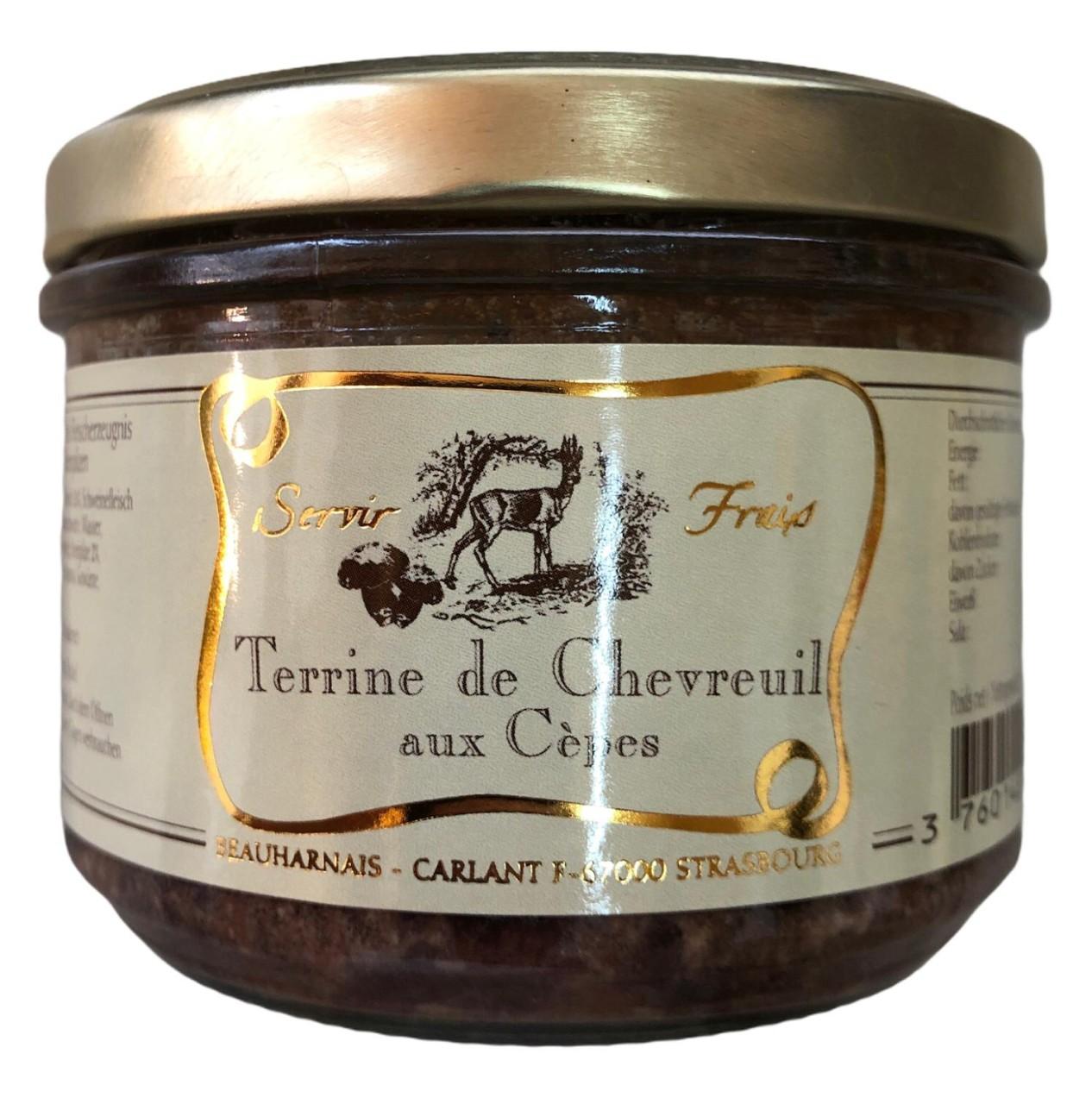 Servir Frais Terrine de Chevreuil aux Cépes (Rehfleisch mit Steinpilzen) 180g