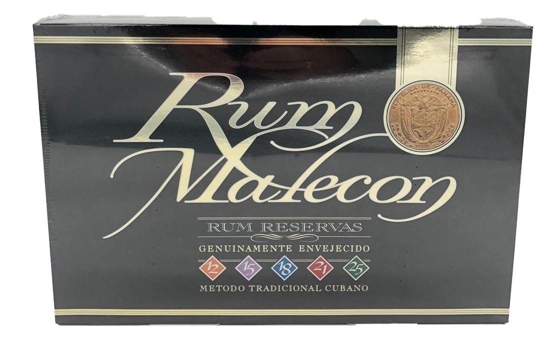Rum Malecon - Rum Box - 5 verschiedene 5 x 5 cl