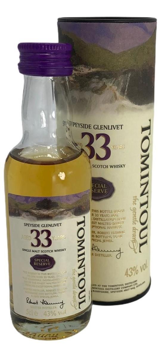 Tomintoul Speyside Glenlivet 33 Years 5cl